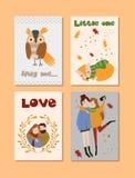 Plantillas del otoño fijadas Vector el diseño para la tarjeta, cartel, aviador, web, cubierta, etiqueta, invitación, equipo de la ilustración del vector