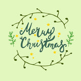 Plantillas del vector de la tarjeta de Navidad objetos dibujados mano en fondo Imagenes de archivo