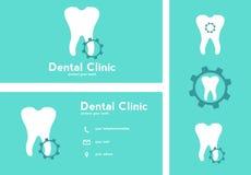 Plantillas dentales de los logotipos Fotos de archivo