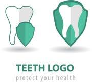 Plantillas dentales de los logotipos Fotografía de archivo libre de regalías