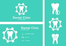 Plantillas dentales de los logotipos Foto de archivo