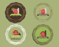 Plantillas e insignias orgánicas del logotipo Para natural stock de ilustración