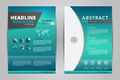 Plantillas/efectos de escritorio de /design del folleto moderno de los aviadores del vector abstracto/del informe anual con el fo Fotografía de archivo libre de regalías