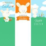 Plantillas felices de la bandera de Pascua Stock de ilustración