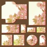 Plantillas florales adornadas del estilo del negocio libre illustration
