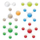 Plantillas gráficas de la información en estilo de la burbuja Fotografía de archivo