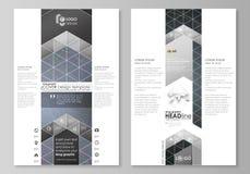 Plantillas gráficas del negocio del blog Plantilla del diseño del sitio web de la página Fondo oscuro colorido con las líneas abs Foto de archivo libre de regalías