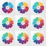 Plantillas infographic del círculo del vector 4-12 opciones Fotos de archivo libres de regalías