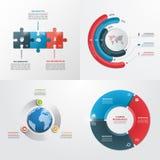 3 plantillas infographic del vector de los pasos Imagenes de archivo