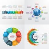 8 plantillas infographic del vector de los pasos Imagen de archivo