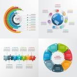7 plantillas infographic del vector de los pasos Imágenes de archivo libres de regalías