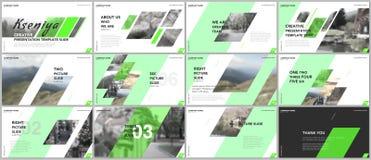 Plantillas limpias y mínimas de la presentación Elementos verdes en un wh libre illustration