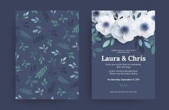 Plantillas modernas de la invitación de la boda stock de ilustración