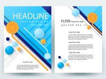 Plantillas modernas del diseño del folleto de los aviadores del vector abstracto Fotografía de archivo