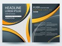 Plantillas modernas del diseño del folleto de los aviadores del vector abstracto Fotografía de archivo libre de regalías