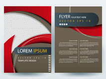 Plantillas modernas del diseño del folleto de los aviadores del vector abstracto Fotos de archivo