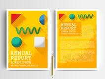 Plantillas modernas del diseño del folleto de los aviadores del vector abstracto Foto de archivo libre de regalías