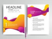 Plantillas modernas del diseño del folleto de los aviadores del vector abstracto Foto de archivo
