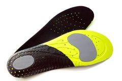 Plantillas ortopédicas para los calzados atléticos Imágenes de archivo libres de regalías