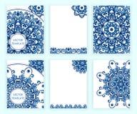 Plantillas para el aviador, bandera, folleto, cartel, cartel, tarjeta de felicitación Fondos abstractos con las mandalas Imagenes de archivo