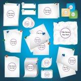 Plantillas para el texto bajo la forma de hoja de papel Imagen de archivo libre de regalías
