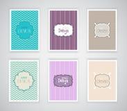 Plantillas retras del diseño Imagen de archivo libre de regalías