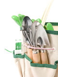 Planting bag with garden tools Royalty Free Stock Photography