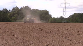 Planting crops. Agricultural industry works. stock video footage
