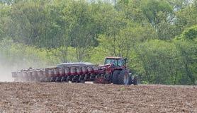 Planting a Farm Field Royalty Free Stock Photo