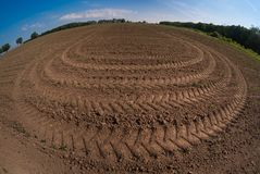 Planting The Field 3025. Farmers prepare the fields for planting, looking forward to someday harvest stock photos
