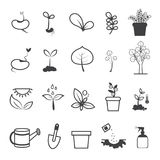 Planting and Plating Tool Icons Royalty Free Stock Images