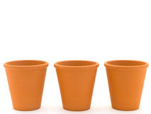 Planting pots royalty free stock photos