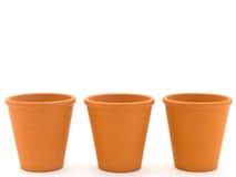 Planting pots Royalty Free Stock Photos