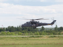 Planting of the Russian MI-35 Royalty Free Stock Image