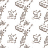 Planting seamless pattern Royalty Free Stock Photography