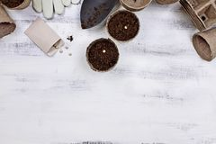 Planting Seeds Background Royalty Free Stock Photography