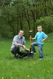 Planting a tree Stock Photos