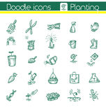 Planting, Vector icons Royalty Free Stock Images