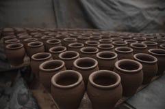 Planton de pots disposé Image libre de droits
