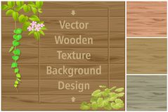 Beautiful wooden pattern, flooring and texture stock illustration