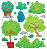 Plants and bush theme collection 1 Royalty Free Stock Images