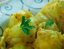 Plants de pommes de terre de cumin Photographie stock