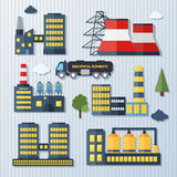 Plants and factories vector illustration Stock Photography