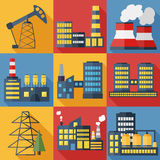 Plants and factories vector illustration Stock Images