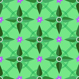 Plants floral geometric pattern Royalty Free Stock Photos