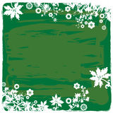 Plants and Flowers Background in Green Vector Illustration Royalty Free Stock Images