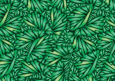 Plants geometric greens. Royalty Free Stock Photos