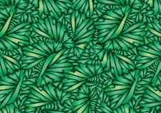 Plants geometric greens. royalty free illustration