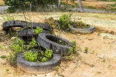 Cement Rings stock photo