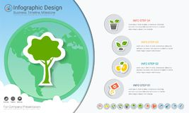 Plants growing timeline infographics with icons set. vector illustration